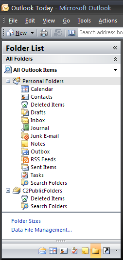 After installing the software the public folder tree is empty.