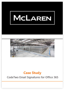 Case Study by McLaren - CodeTwo Email Signatures for Office 365