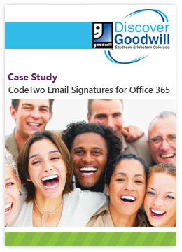 Case Study by Discover Goodwill - CodeTwo Email Signatures for Office 365