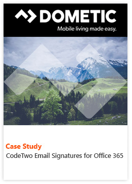 Case Study by Dometic Group - CodeTwo Email Signatures for Office 365