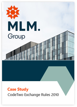 Case Study by MLM Group - CodeTwo Exchange Rules 2010