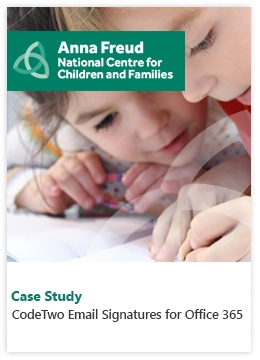 Case Study by Anna Freud National Centre for Children and Families - CodeTwo Email Signatures for Office 365