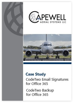 Case Study by Capewell - CodeTwo Email Signatures for Office 365 and CodeTwo Backup