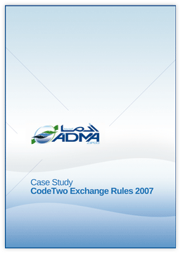 CodeTwo Exchange Rules Family - CS - Abu Dhabi Marine Operating Company