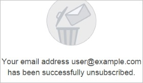 Unsubscribe banner