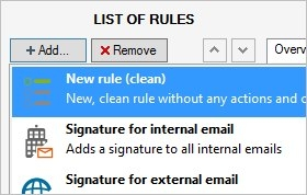 Creating a new rule in CodeTwo Exchange Rules Pro
