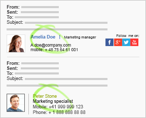 Email signature management on Exchange Server 2016/2013/2010/2007