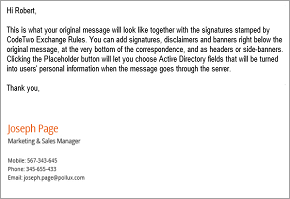 Email signature management in Office 365