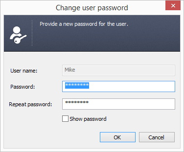 PF - Change user password.