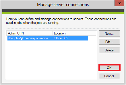 Backup - Confirm O365 connection small.