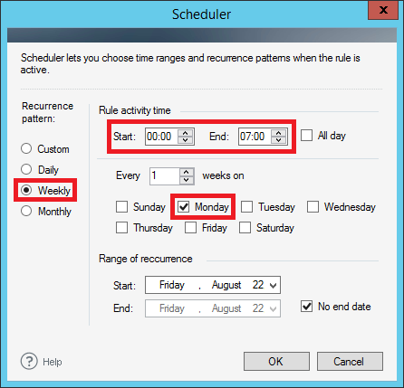 ER Pro 2.x - Setting the Scheduler.