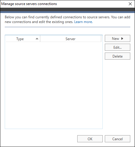 Office 365 Migration Source connection
