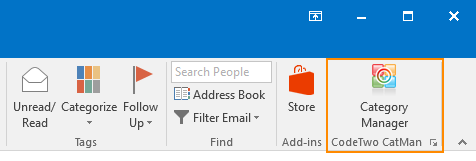 CodeTwo CatMan in Outlook