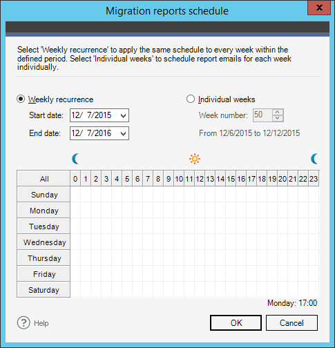 Exchange Migration - send reports schedule