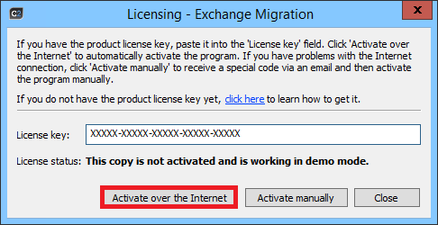 O365 Migration - Activating the program.