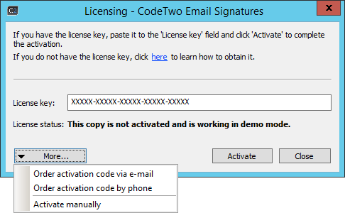 Email Signatures - Activation 2.