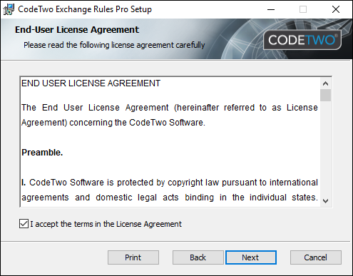 ER Pro installation 1 License Agreement