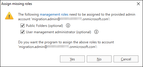 O365 Migr troubleshooting assign optional roles