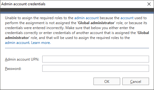 O365 Migration troubleshooting admin cred2
