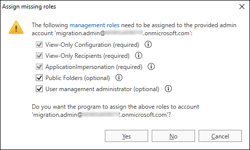 O365 Migration troubleshooting assigning roles