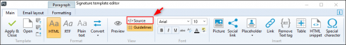 ESIG 365 Editor - source view button