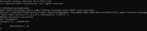 Exchange Rules 2019 Core installation - WMI