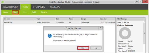 Backup - Start backup job big.