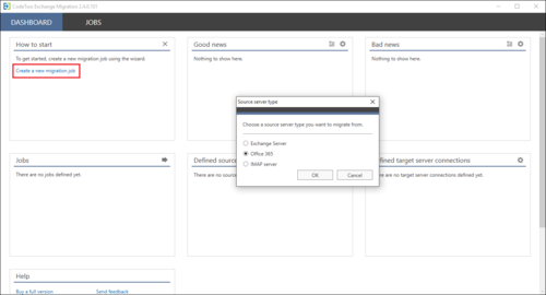 Exchange Migration - new source o365