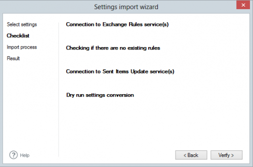 ER Pro 2.x - verification of Import settings