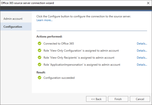 Exchange Migration Office 365 source wizard 2