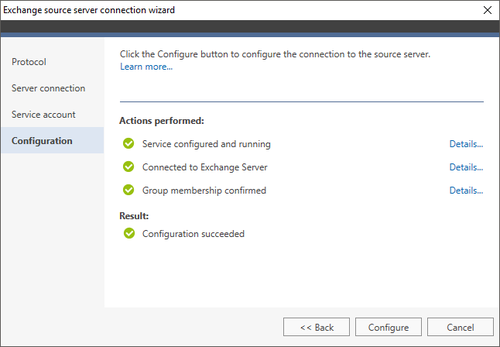 Exchange Migration Exchange source wizard 4 MAPI