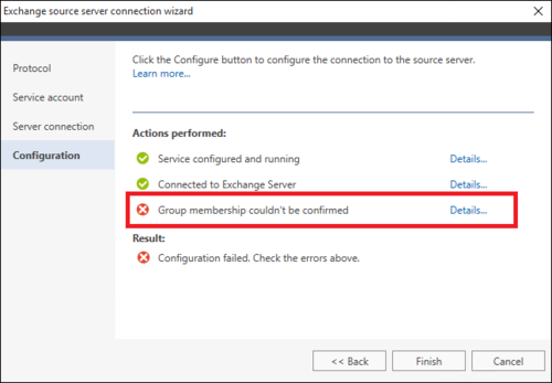 Office 365 Migration source wizard failure 3