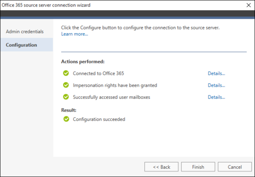 Office 365 Migration Office 365 source wizard 2