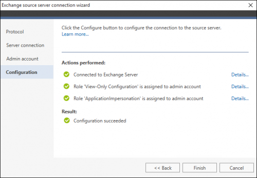 Office 365 Migration Exchange source wizard 4 EWS