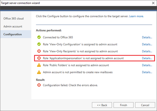 O365 Migration troubleshooting AppImpers fail