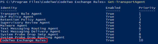 Exchange Rules Core installation - transport agent