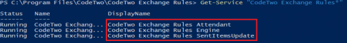 Exchange Rules Core installation - services