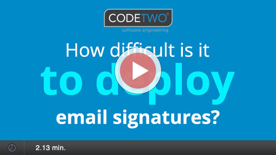 Deploying email signatures - video