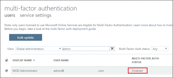 Microsoft security policies prevent creating app passwords