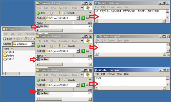 How to create hyperlinks using Active Directory variables, and how