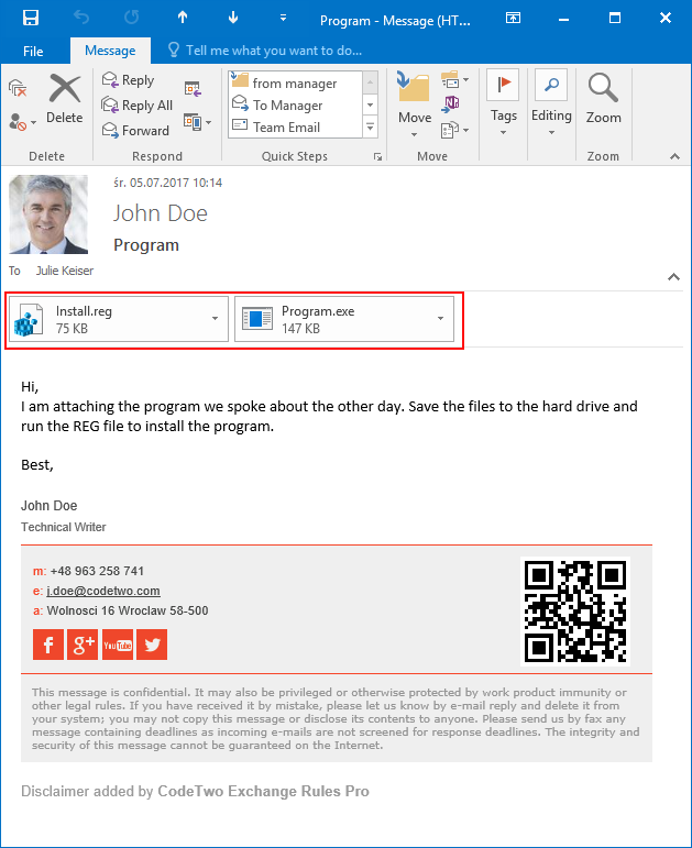 Outlook Unblocked Attachments