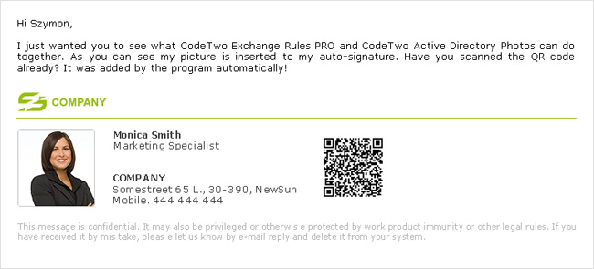 QR codes in Exchange mail, QR code generator - CodeTwo Exchange ...