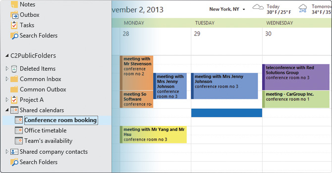 share outlook calendars  synchronize appointments with