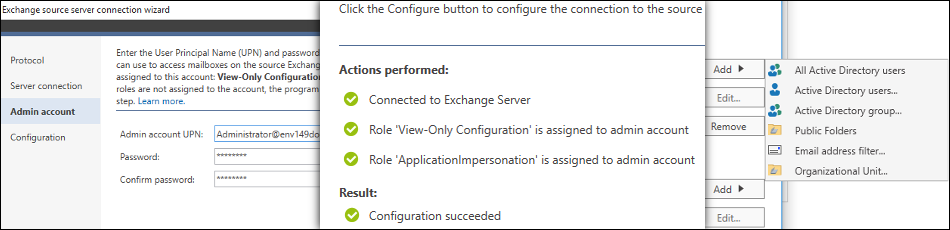 CodeTwo Office 365 Migration - Configuring a migration job