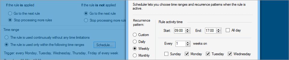 CodeTwo Exchange Rules PRO 2.0 - New scheduler with advanced options