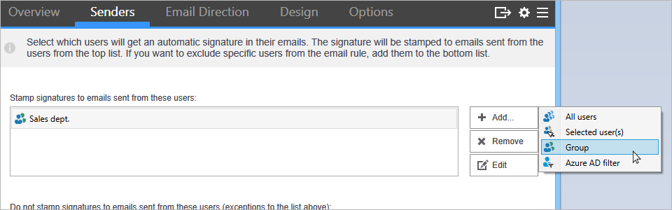 Configuring rule conditions in CodeTwo Email Signatures for Office 365