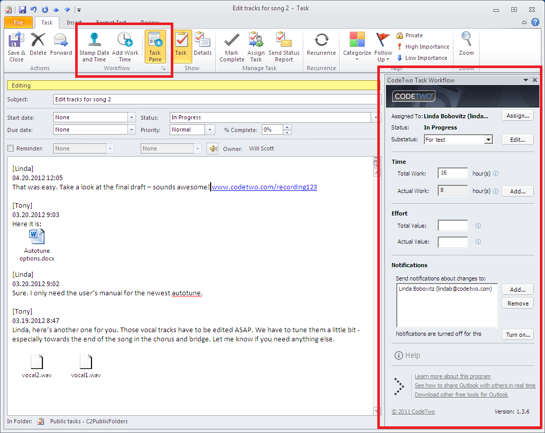 how to open folders in outlook web browser