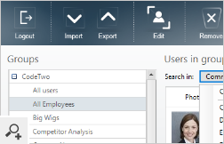 After importing user photos into Office 365, you can easily search them using the application's filter feature.