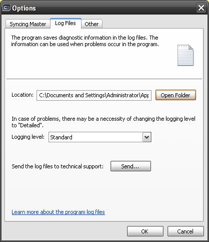 how to read outlook log files